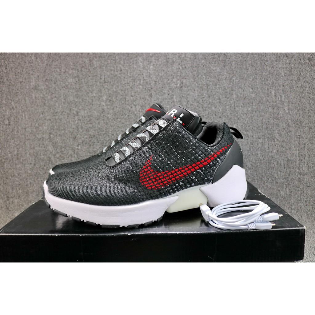 Sepatu Sneakers Desain Nike HyperAdapt Warna Hitam   Merah f4d873ace3