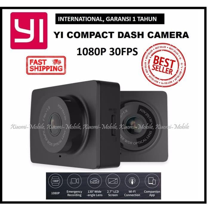 Xiaomi Yi Smart Dash Camera Car DVR 1080p 2.7/'/'LCD display,130° Chinese version