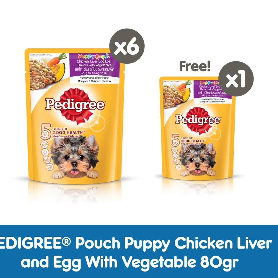 Groser Pedigree Makanan Anak Anjing Basah Pouch Rasa Chicken Liver And Egg With Vegetable 80 G I Shopee Indonesia