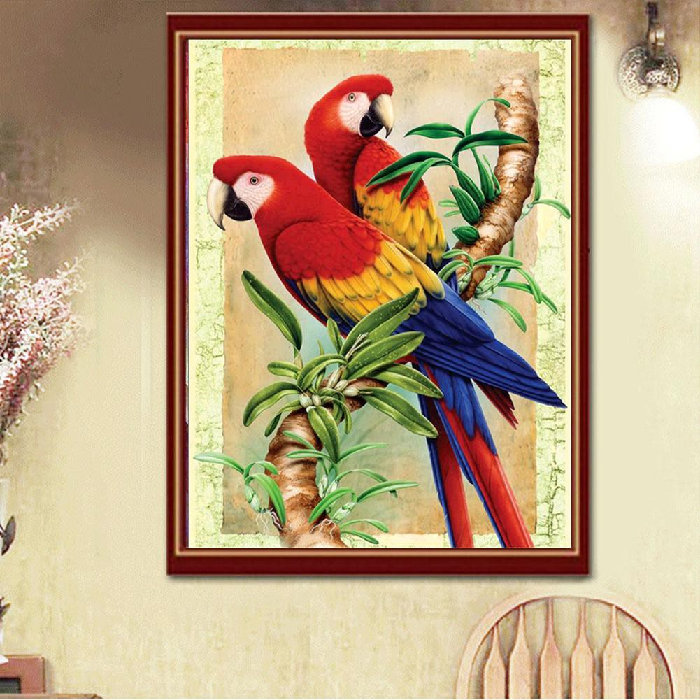Fa Set Lukisan Diamond 5d Diy Gambar Burung Beo Untuk Dekorasi