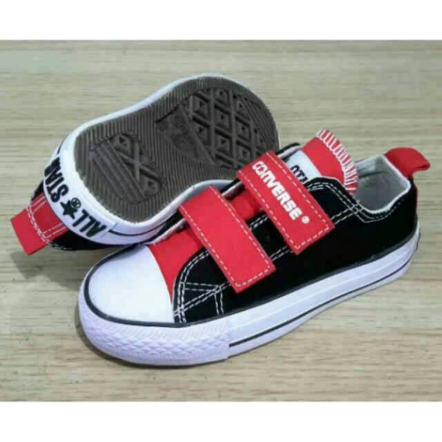 Sepatu Converse Kids Maroon tanpa tali perekat  tinggi Converse Anak Anak  28d12b091c