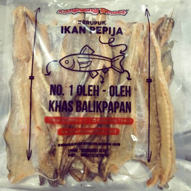 Kerupuk Ikan Pepija Tipis Ikan Asin Kampoeng Timoer Khas