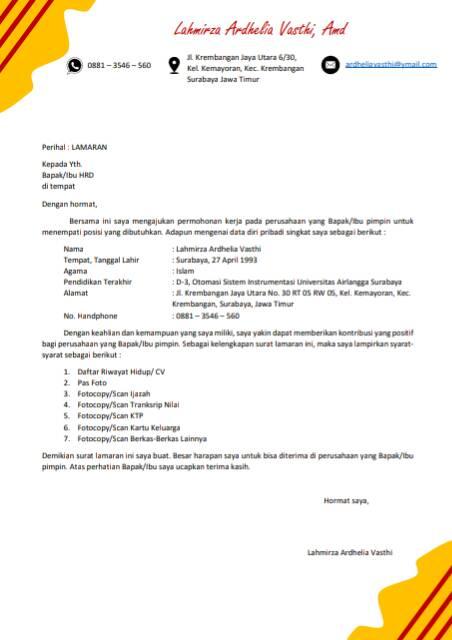 Jasa Pembuatan Cv Kreatif Dan Surat Lamaran Kerja Shopee Indonesia