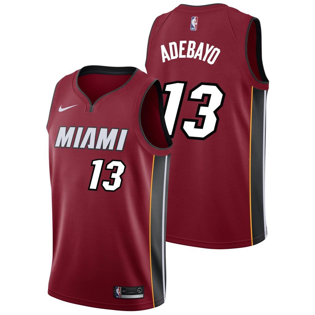 Nike Jersey Basketball Nba Miami Heat Jersey Man Nomor 13 Bam Adebayo Shopee Indonesia
