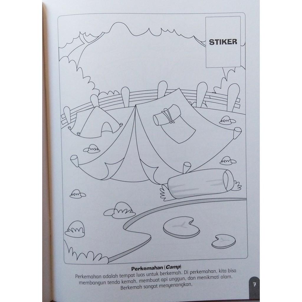 Buku Mewarnai Pemandangan Bonus Poster