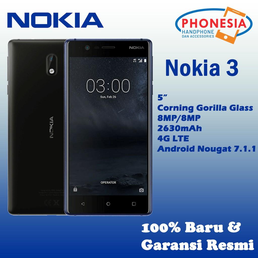 Nokia 3 Android Ram 2gb 16gb Shopee Indonesia Huawei Y5 Ii Smartphone 8gb Garansi Resmi