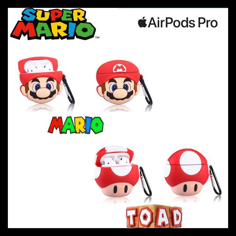 Airpods Pro Case 2019 Airpods 3 Super Mario Bros Mario Toad Mario Shopee Indonesia