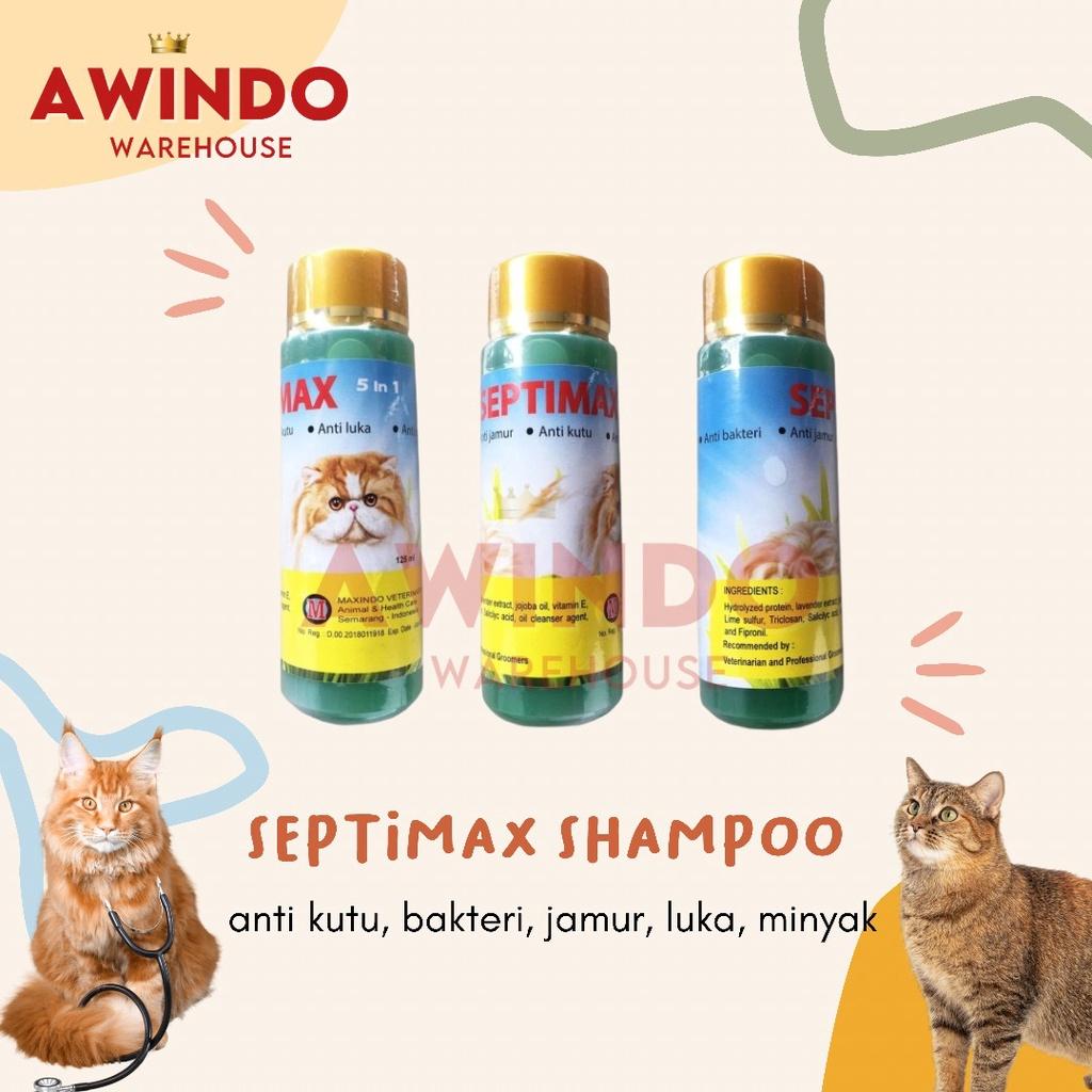 SEPTIMAX - Shampo Shampoo Sampo Kucing Anti Kutu Bakteri Luka Jamur Minyak 125ml SETPIMAX