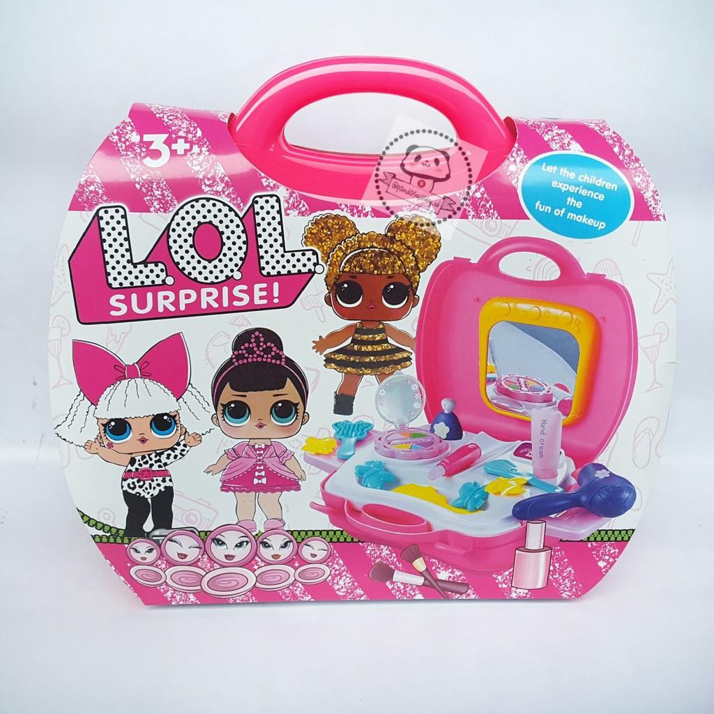 mainan alat dandan makeup edisi lol surprise mainan salon