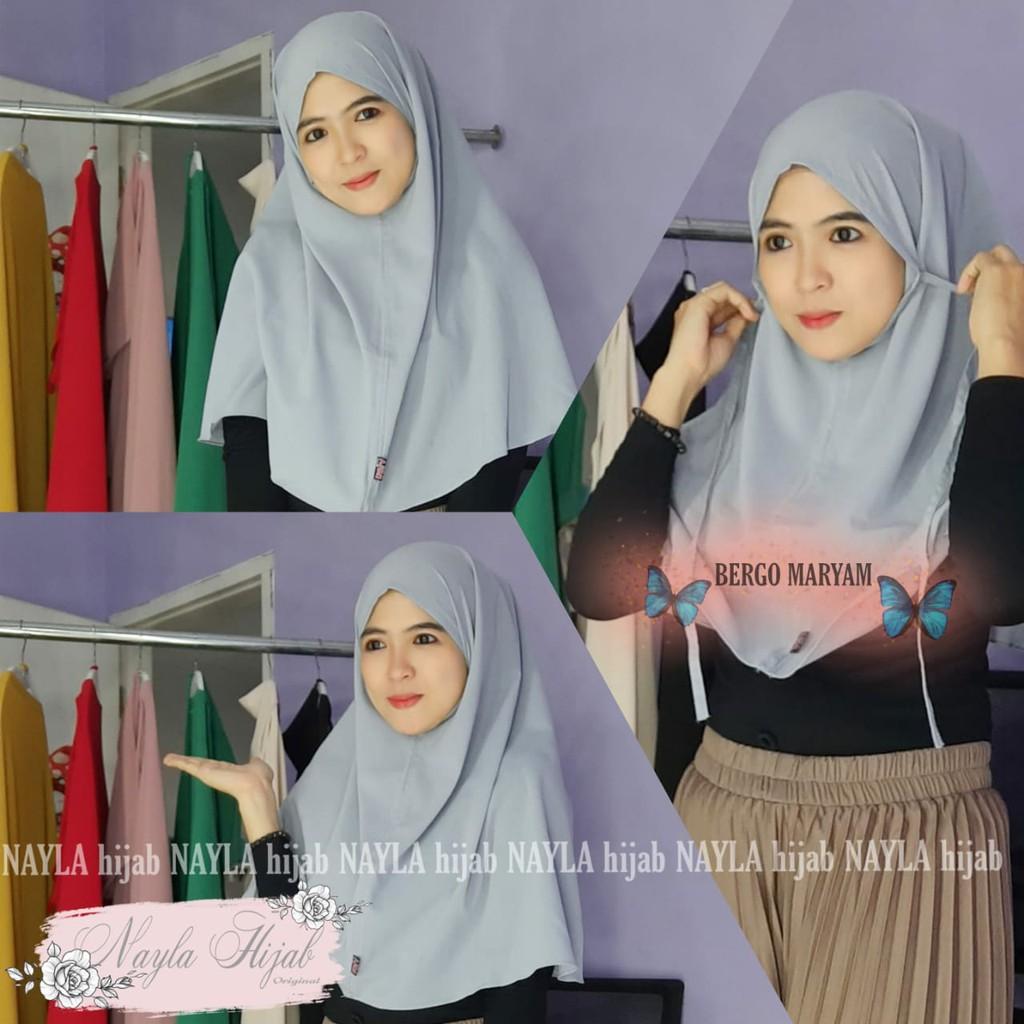 Original Nayla Hijab Jilbab Instan Bergo Maryam Nayla Shopee Indonesia