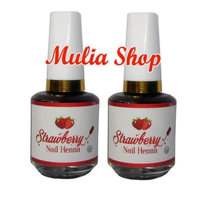Strawberry Nail Henna Hitam Pacar Kuku Kutek Halal Pasta Henna