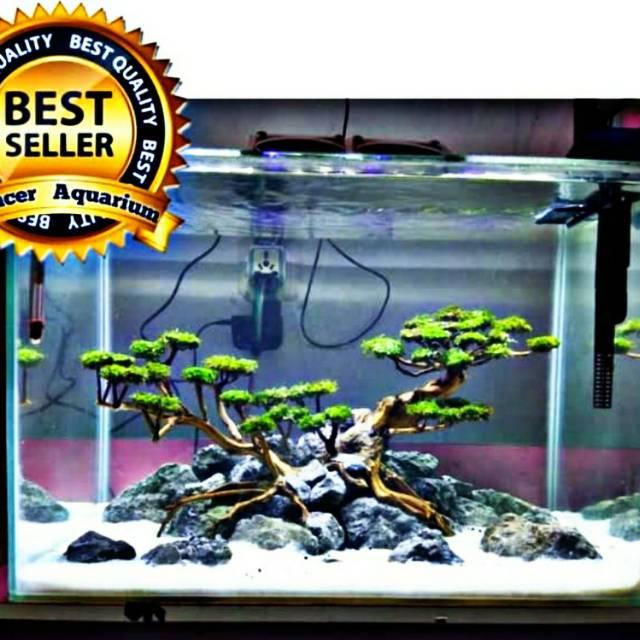 Aquarium Aquascape Jadi Free Kirim Jakarta Kolam Ikan Hias Desain Akuarium Cantik Best Desain Simple Shopee Indonesia