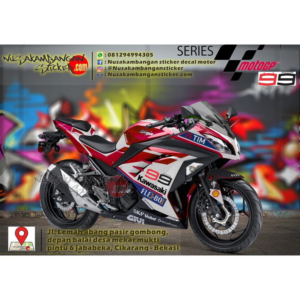 Decal striping kawasaki ninja 250 fw fi dukati team motogp 200 shopee indonesia