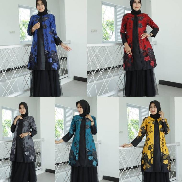 Tunik Batik Guru Wanita • Seragam Batik Guru • Seragam Kerja Kantor • Baju Batik Wanita •Batik Kerja