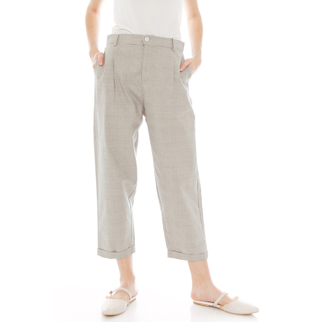 Beatrice Clothing - Kella Pants in Checkered Grey