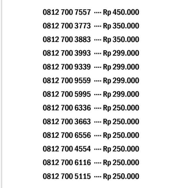 Nomor Cantik SIMPATI 11Digit 4G LTE 11angka LIMITED EDITION Triple Rasa Panca Tujuh Nomer TELKOMSEL |