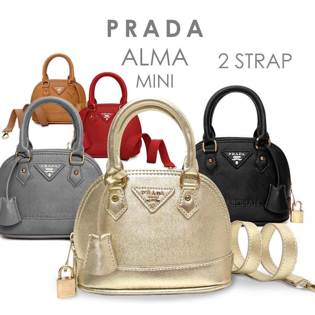 HANDBAGKU TAS PRADA ALMA MINI 2STRAP fashion wanita import batam murah  terbaru selempang branded  8e47e6dff5