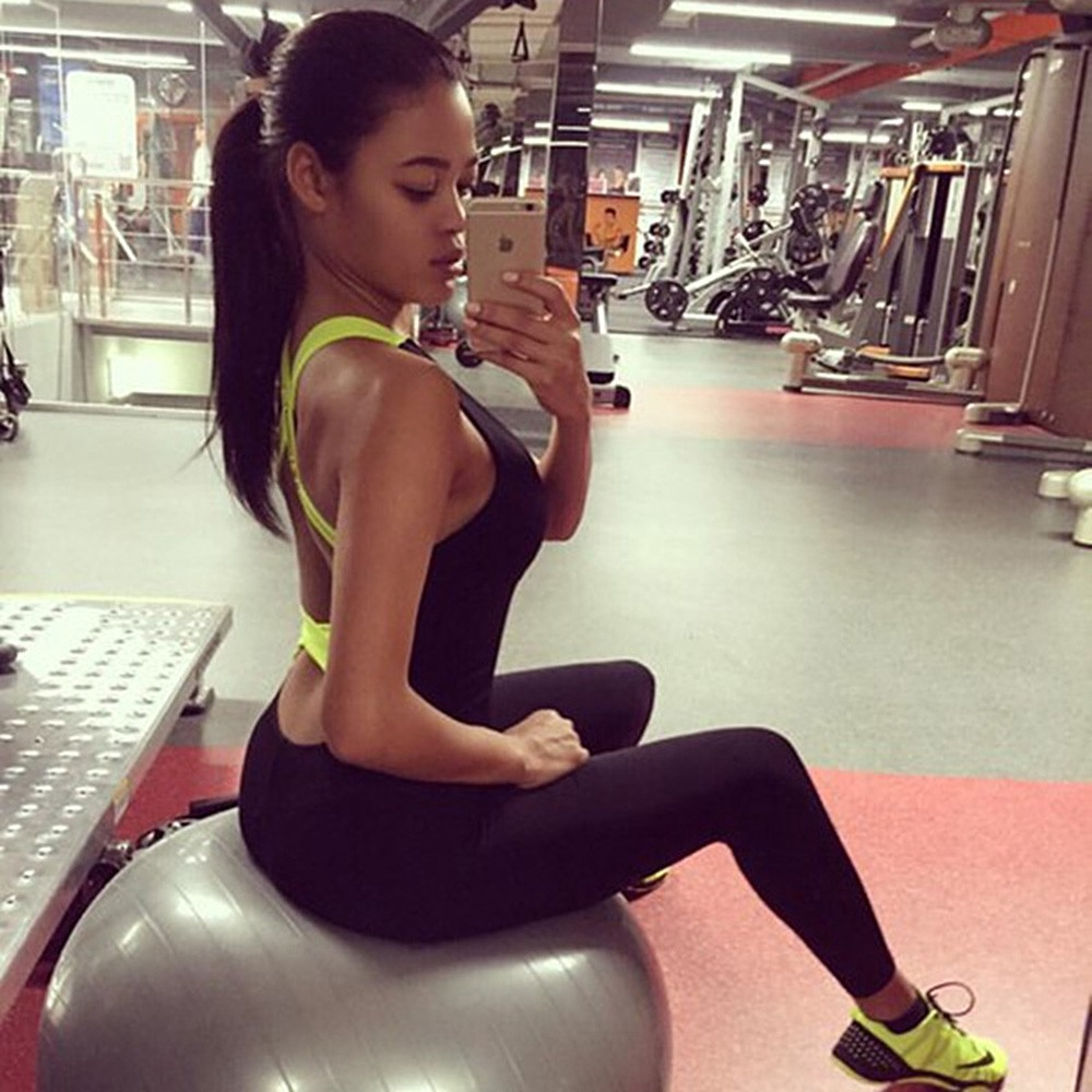 0113ba73047 DICLOUD S-XL Elasticity Fitness Jumpsuit  amp  Rompers Women Skinny Candy  Cross Bandage Slim