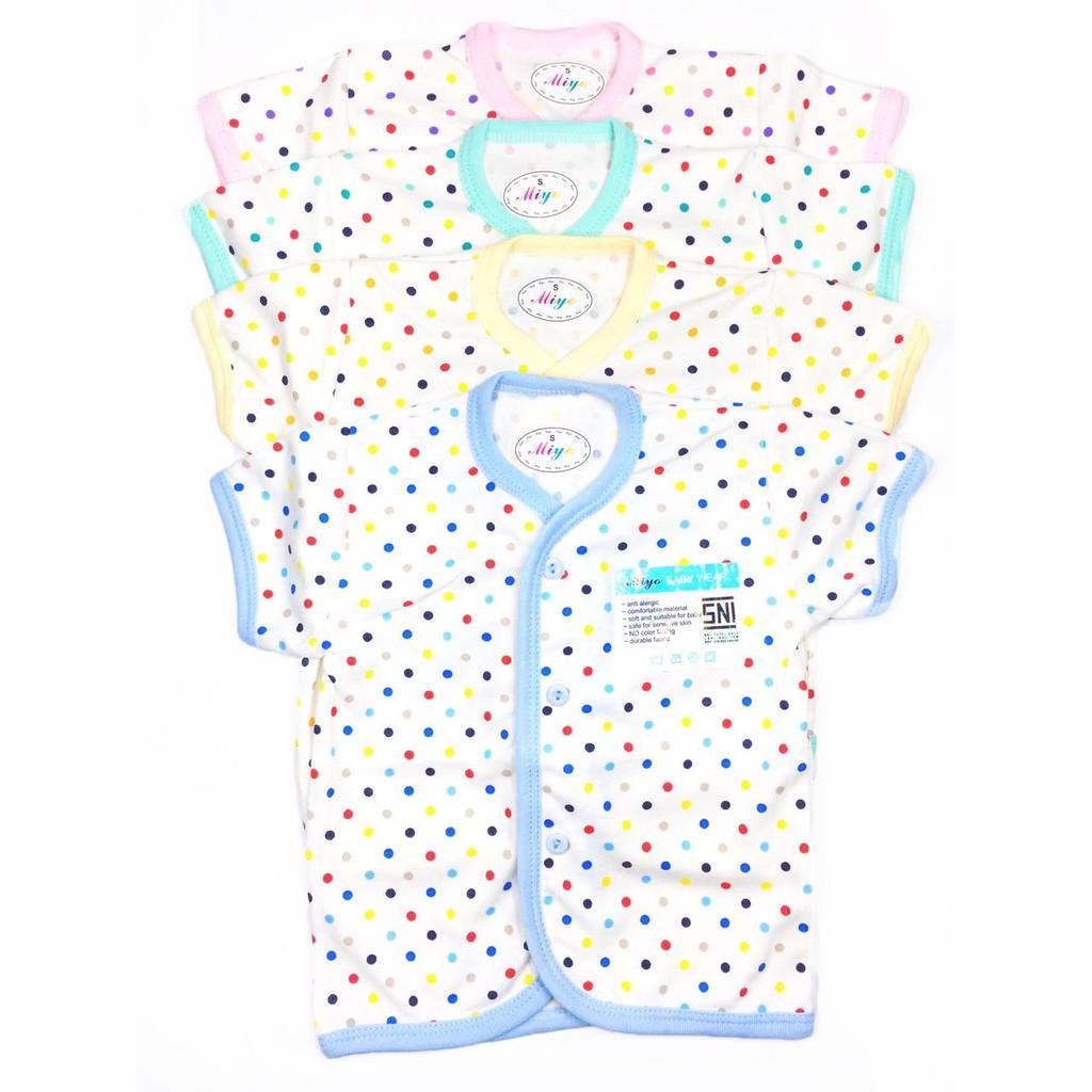 Baju Bayi Newborn Baru Lahir Miyo Kodok Segiempat Warna Putih 0 Red 3 Bulan Sni Shopee Indonesia