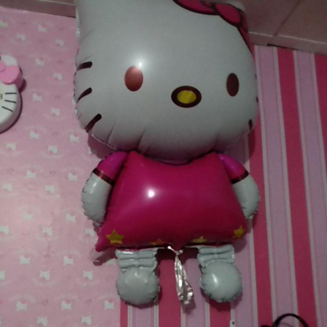 Balon Helium Model Kucing Hello Kitty Bahan Foil Untuk Dekorasi