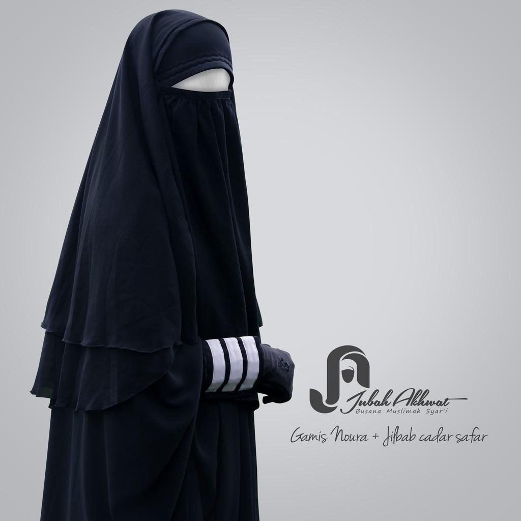 Jilbab Cadar Safar Bahan Jetblack Shopee Indonesia