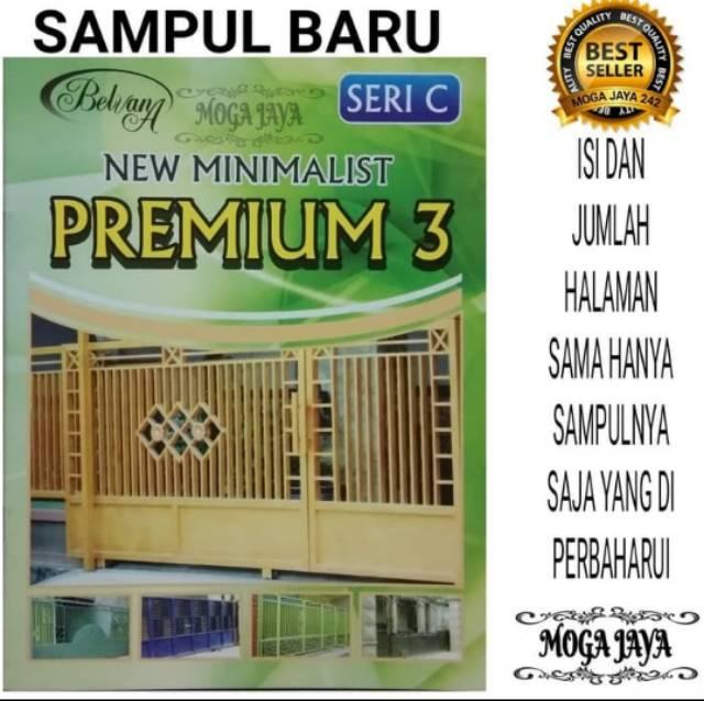 Buku Katalog Pintu Pagar Besi Minimalis Moderen Premium 3   Shopee Indonesia