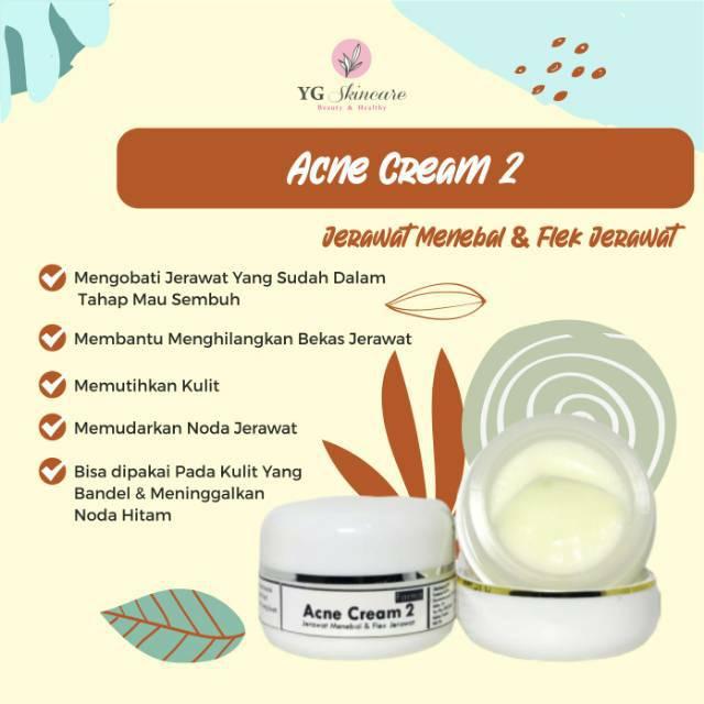 Acne Cream 2 Acne Glow Flek bekas jerawat | Shopee Indonesia