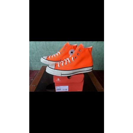 Sepatu Converse Chuck 70s HI Total Orange Original-167700C