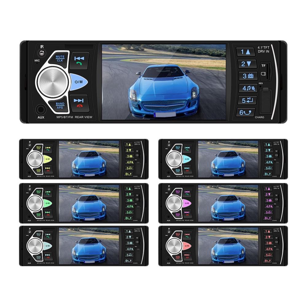 "4.1/"" Radio de coche 1DIN HD TFT Bluetooth FM//USB//TF//AUX MP5//MP4 Rear view+caméra"