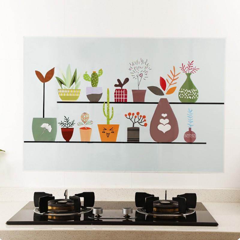 Stiker Dinding dengan Bahan Tahan Air dan Minyak Gambar Motif Ukuran 60 * 90cm untuk Dekorasi Dapur | Shopee Indonesia