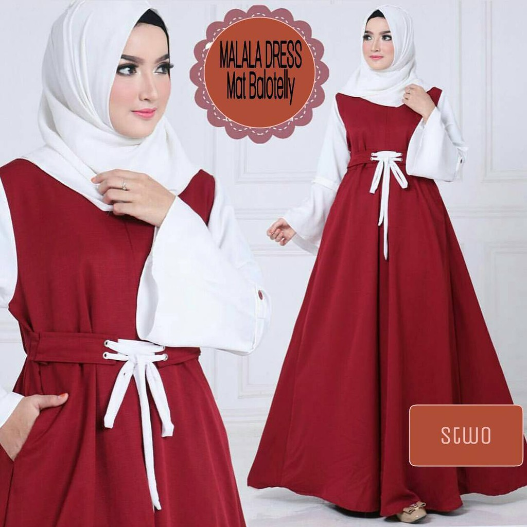 ALESA SYARI 2 IN 1/MURAH WANITA /FREEMAN /BASRENG /MUSLIM GAMIS /IMPORT WANITA/FLAT SHOES/LONG DRESS   Shopee Indonesia