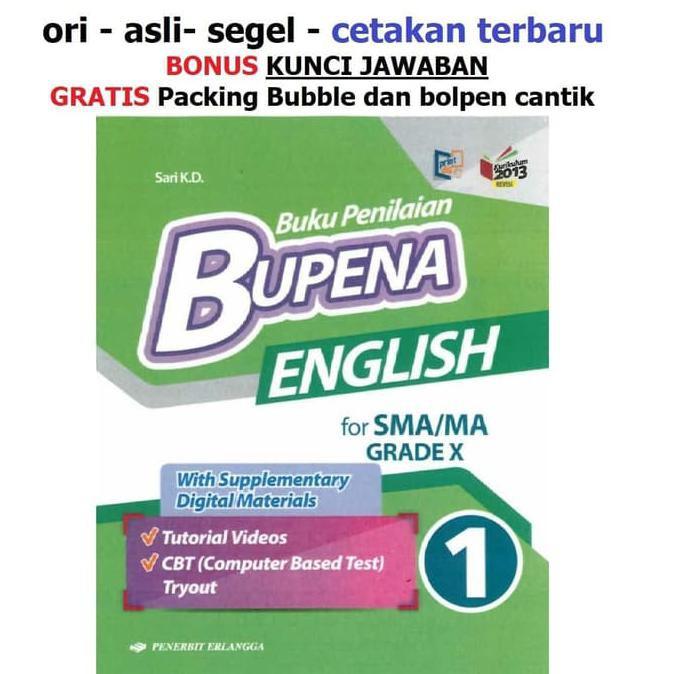 New Buku Bupena Bahasa Inggris Sma Kelas 10 X K13 Shopee Indonesia