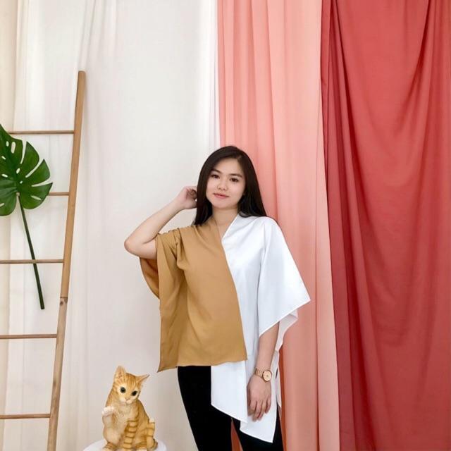 Hokkaido Maxy atasan wanita import BIG SIZE
