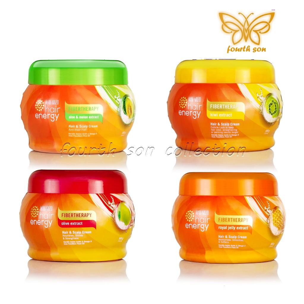 Makarizo Hair Energy Fibertherapy Creambath & Scalp Cream 500gr | Shopee Indonesia