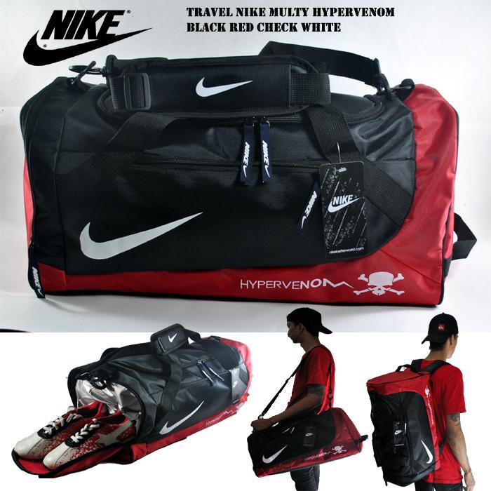 TRAVEL BAG NIKE HITAM MERAH  11b8186a34