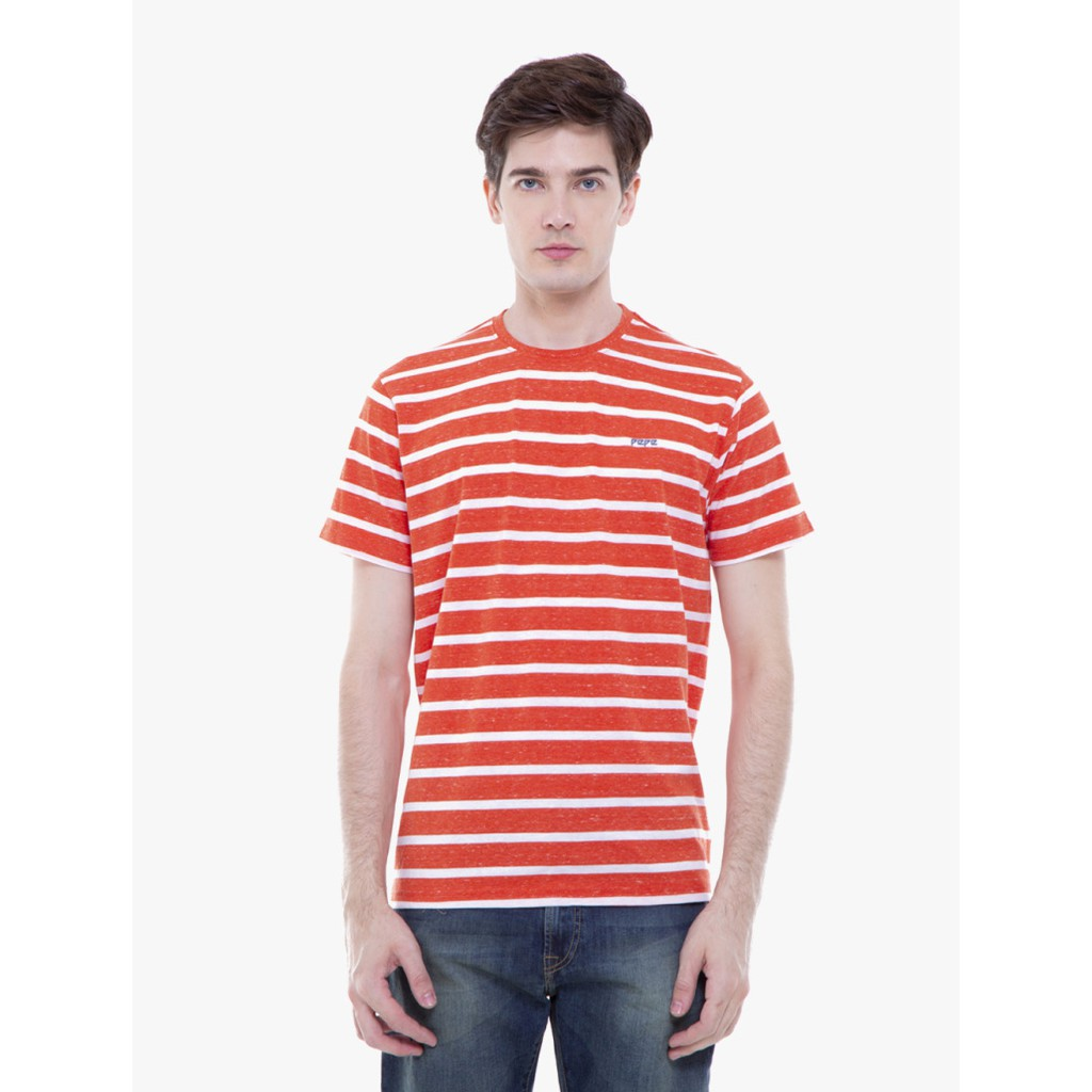 Pepe Jeans Slim Fit Orange T Shirt Driven Ss Shopee Indonesia