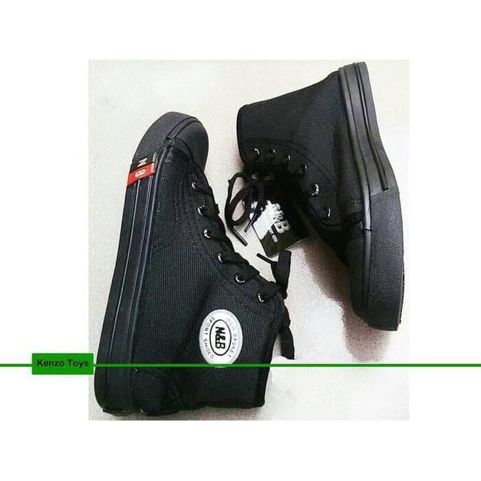 Hari Ini Sepatu Anak Sekolah Tk Sd Smp Nb Warna Hitam Boot Tali Diskon  Limited  4104041dec