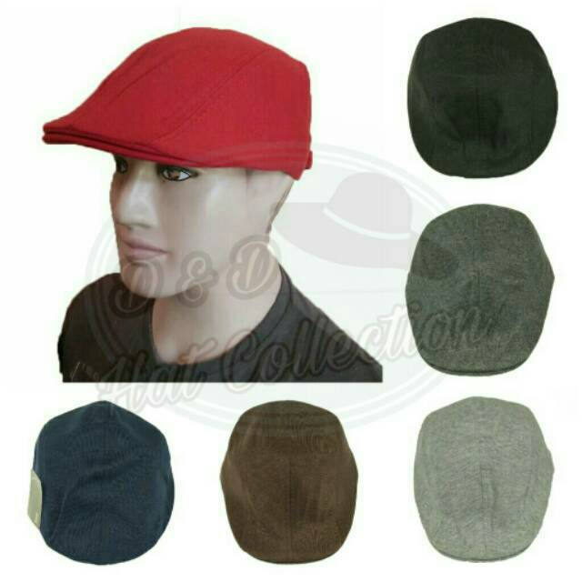 TOPI PELUKIS   PAINTER HAT   FLAT CAP FLEECE  c3eb70154a