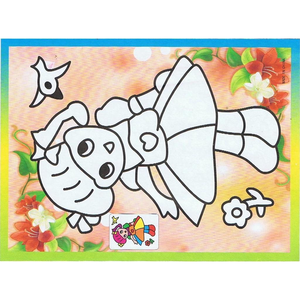 DS006 DIY Anak Gambar Gosok Scratch Picture Dan Mewarnai Harimau Tiger