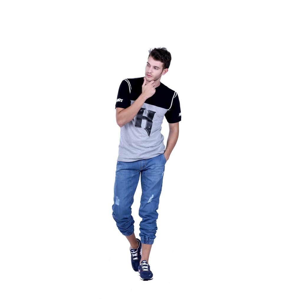 Jual Hrcn Japan Men T Shirt Kaos Distro Pria H 0229 Original Casual 0028 Shopee Indonesia