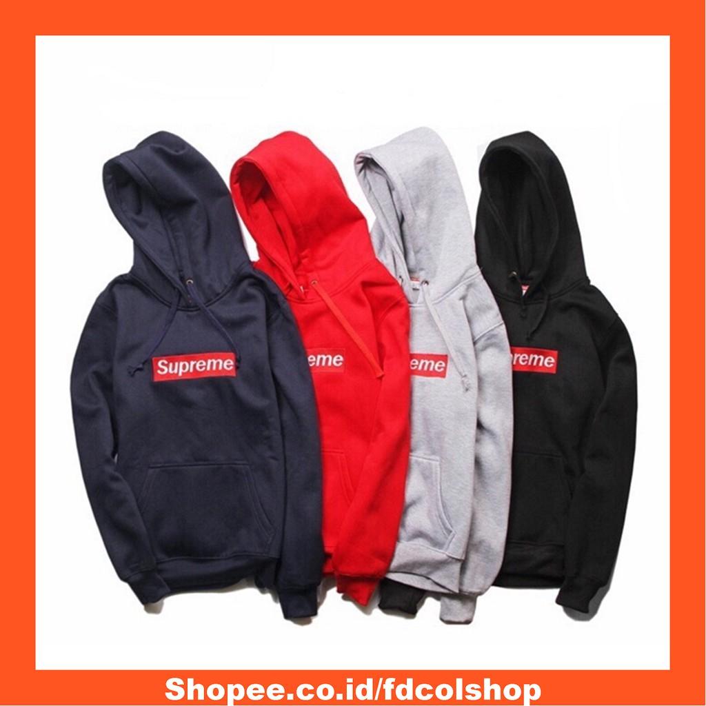 Jaket Jumbo Fleece S - 5XL Hitam Supreme Navy Hoodie Pria Best Seller  Termurah Tebal Premium  bcd6d2cef6