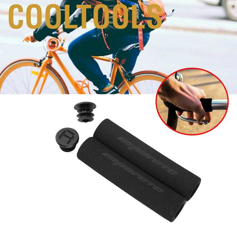 Black 1 Pair 25mm Bike Bicycle Anti-Skid Rubber Handlebar Grip Cover Sleeve