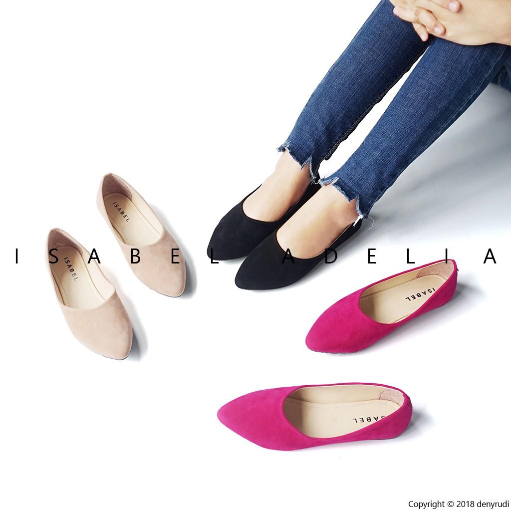 SEPATU SANDAL WANITA ASIA JAPAN IMPORT LISA BLACKPINK KOREA   Sepatuafa - Flat  Shoes Sepatu Teplek  a25833ed86