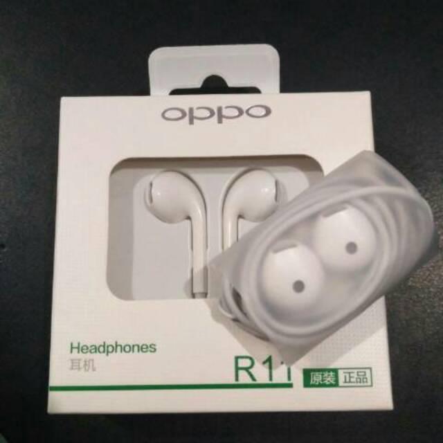 HANDSFREE EARPHONE HEADSET OPPO R11 ORIGINAL 100%