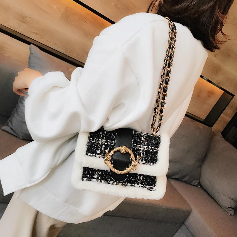 ۩✁Pada wanita tas kecil baru 2018 musim gugur dan dingin versi Korea broadband Crossbody bahu ratus | Shopee Indonesia