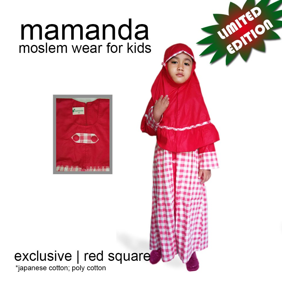 Gamis Anak Red Square Limited Edition by Mamanda