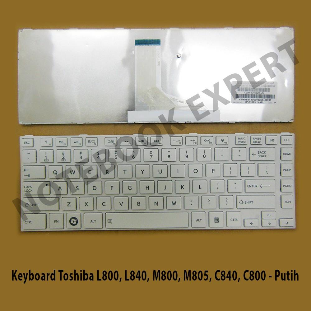 Keyboard Toshiba Satellite S40 A S40t S40d C45t L45t Putih L510 M500 M501 M502 M503 M505 M506 Hitam Shopee Indonesia