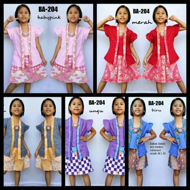 Batik anak / setelan kutu baru batik anak seri warna usia 6- 10 tahun |