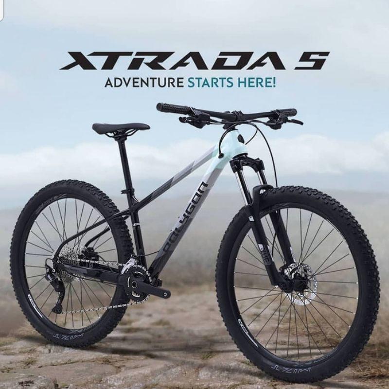 sepeda polygon Xtrada 5 size S & M ukuran 27.5 mtb speed 2x11 mountain bike 27,5 2020 2021