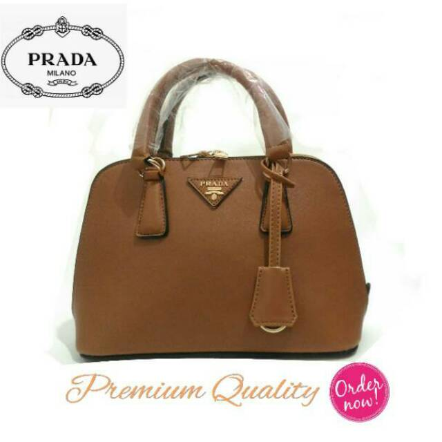 1352cbabd9af Prada Alma Mini  Brown  Coklat Tan  Promo Tas Wanita MK CK LV handbag  shoulder selempang bag